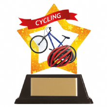 Cycling Mini-Star Acrylic Award